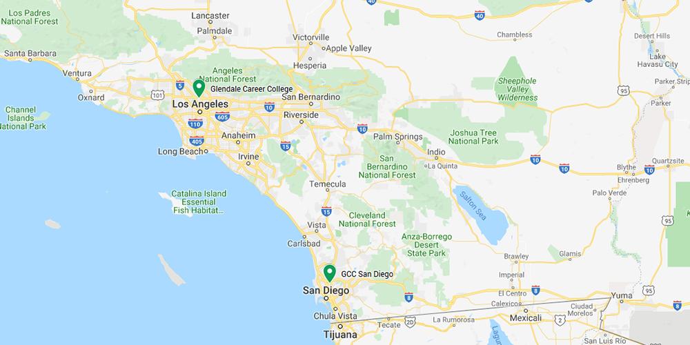 Glendale Career College Campus Map